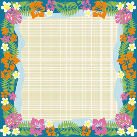 aloha: Abstrakt tropischen frame  Illustration