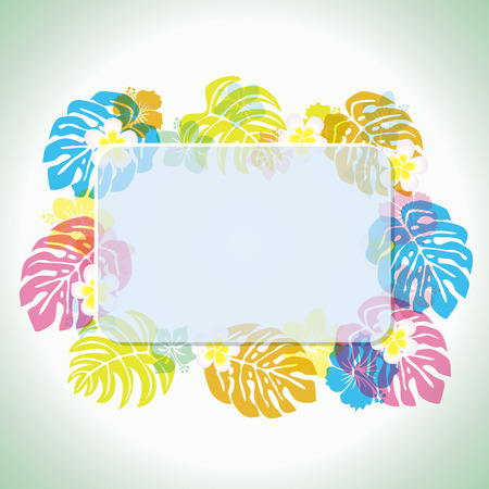 monstera: Abstract tropical frame