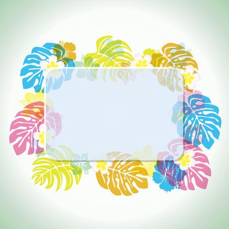 luau party: Marco tropical abstracta  Vectores