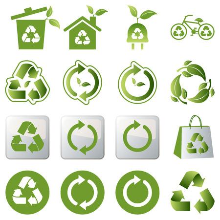 reciclar basura: Reciclar el conjunto de iconos
