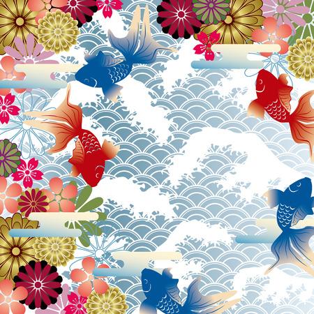Arrière-plan de style japonais