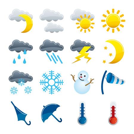 iconos del clima: Conjunto de iconos de clima