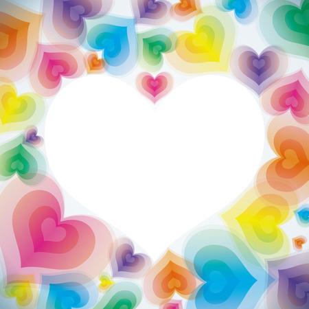Corazón de amor abstracta Background  Foto de archivo - 7334334