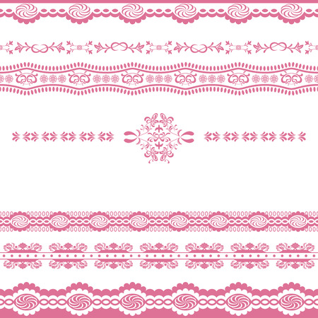 Abstract pink line ornament Stock Vector - 7334338