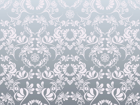 抽象的な銀製の装飾パターン  イラスト・ベクター素材