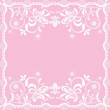 feminine background: Fondo femenino de color rosado abstracta  Vectores