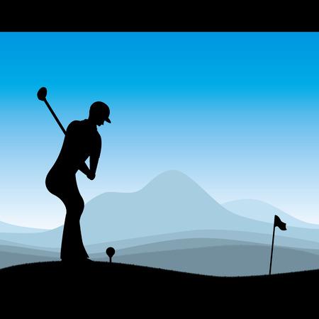 Stylish golf illustration  イラスト・ベクター素材