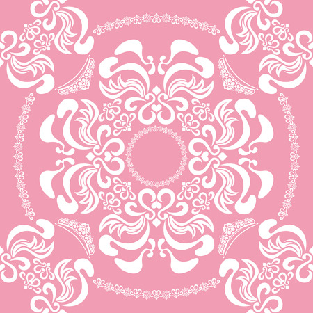 Abstract seamless floral pink background Stock Vector - 7419283