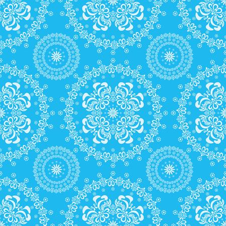 抽象的な背景がシームレスな花柄ブルー