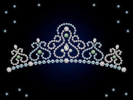 このグラフィックはダイヤモンド ティアラです。  イラスト・ベクター素材