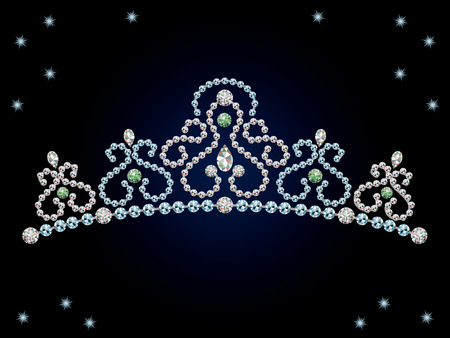 costume jewellery: This graphic is diamond tiara Illustration