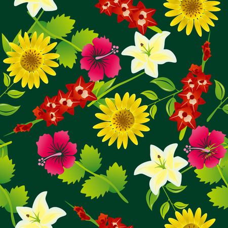 Seamless flower pattern Stock Vector - 7439601