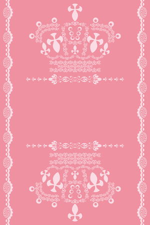 diadem: Abstract pink crown background. Illustration