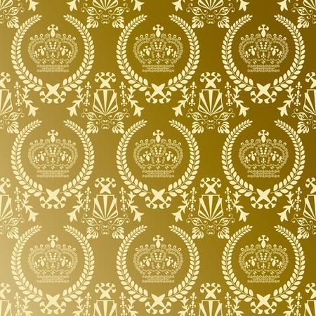 抽象的なゴールド クラウン パターン