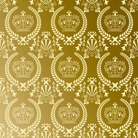 Abstract gold crown pattern Stock Vector - 7453874