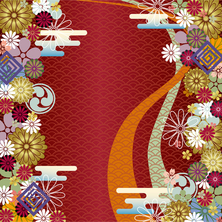 Abstract japanese traditional background. Vector