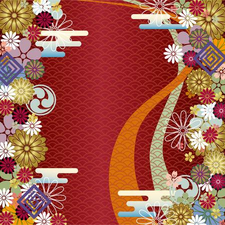 flores chinas: Abstracta fondo tradicional japon�s.