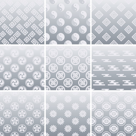 traditional silver wallpaper: Japanese traditional silver pattern