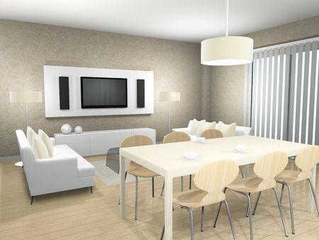 Natural interior. 3d render. 写真素材
