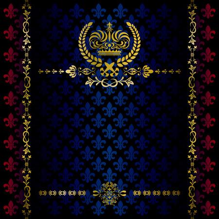 nobile: Lusso corona decorazione cornice  Vettoriali