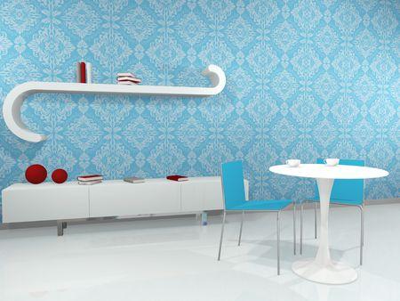 Modern interior. 3d render  photo
