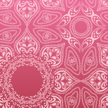 crochet: Pink mandala pattern. Illustration