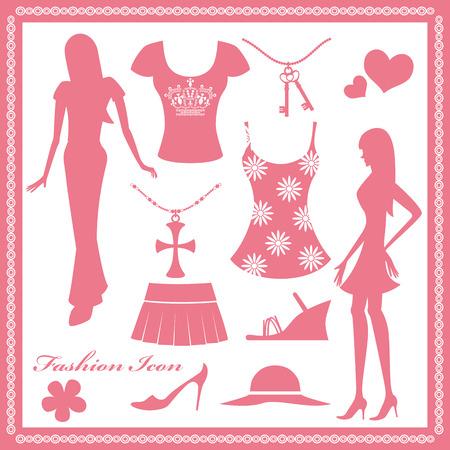 女性のファッションのアイコンを設定