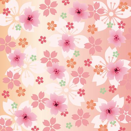 kyoto: Background Blossoms  Illustration