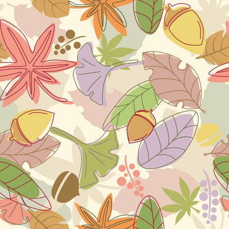 earthly: Seamless Leaf Pattern