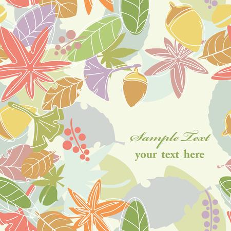 terrena: Seamless Background Leaf  Vettoriali