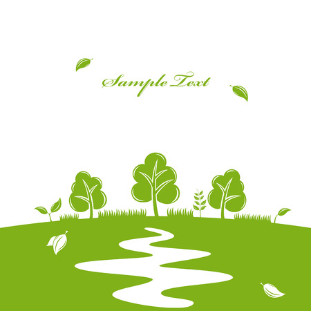 Green nature background. Stock Vector - 7693816