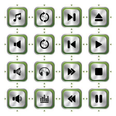 pictogrammes musique: Ensemble de musique ic�nes