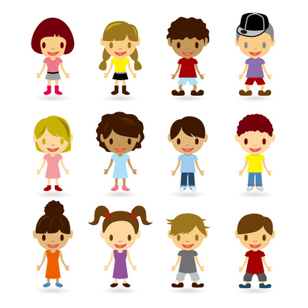 Kids Models Set Stock Vector - 7775326