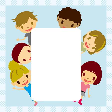 Kids frame Vector