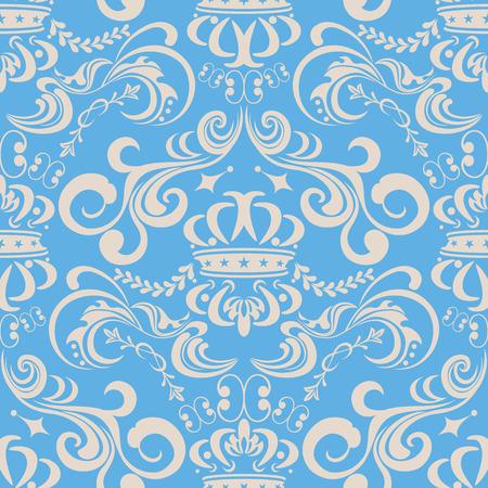 抽象的なシームレスな青い模様。図