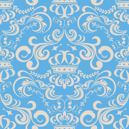 Abstract seamless blue pattern. Illustration  Vector