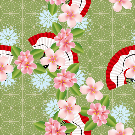 Abstract seamless japanese pattern. Illustration Stock Vector - 7822839