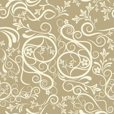 Abstract seamless floral pattern. Illustration