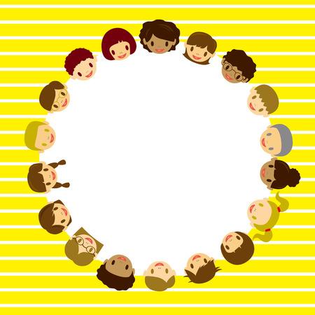 Kids face frame. Illustration   Vector