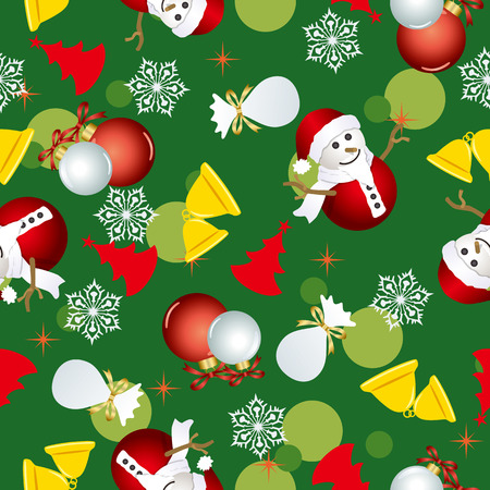 Abstract seamless christmas pattern. Illustration   Vector