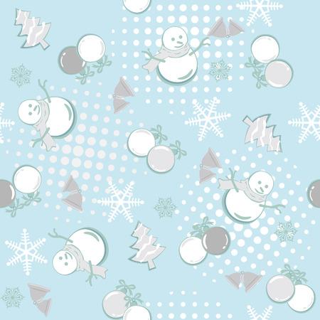 Abstract seamless winter pattern. Illustration Stock Vector - 7879681