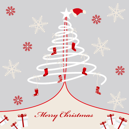 Abstract christmas background. Illustration   Vector