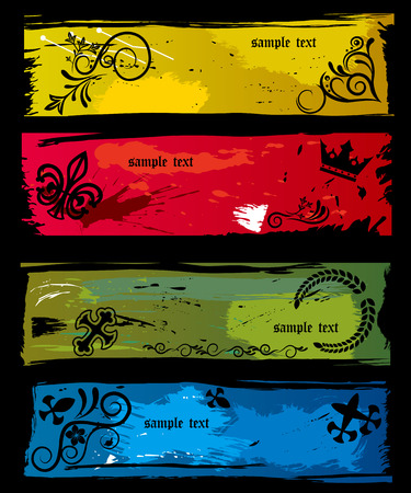 This graphic is abstract grunge banners. Illustration  Stock Vector - 7913983