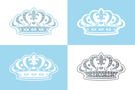 costume jewellery: Blue decoration tiara. Illustration Illustration