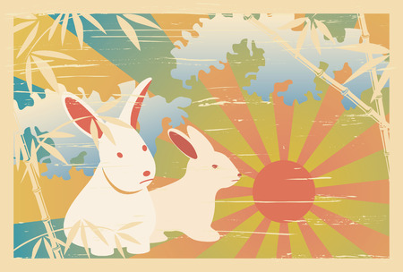 ukiyoe: Asian traditional 2011 postcard. Illustration  Illustration