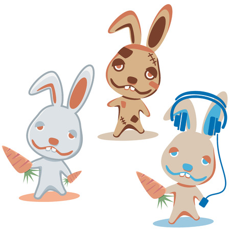 Characters Rabbit. Illustration  Vector
