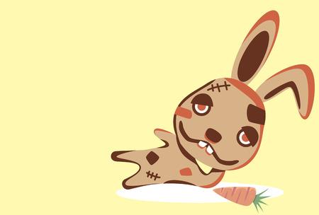 Characters Rabbit. Illustration Vector