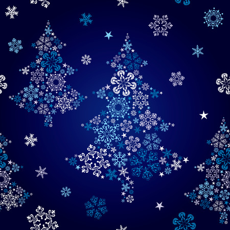Abstract seamless snowflake tree. Illustration vector. Vector