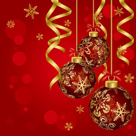 豪華なクリスマス ボール。イラスト ベクトル。