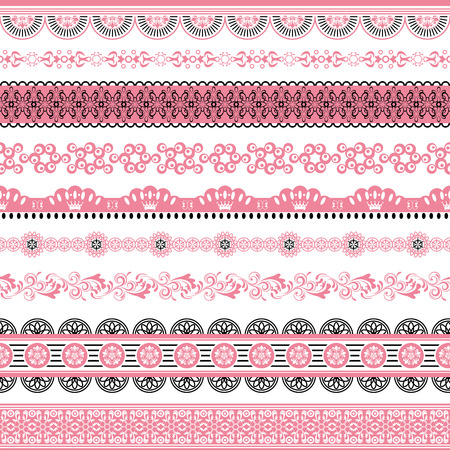 lace frame: Design Elements Set. Illustration vector.